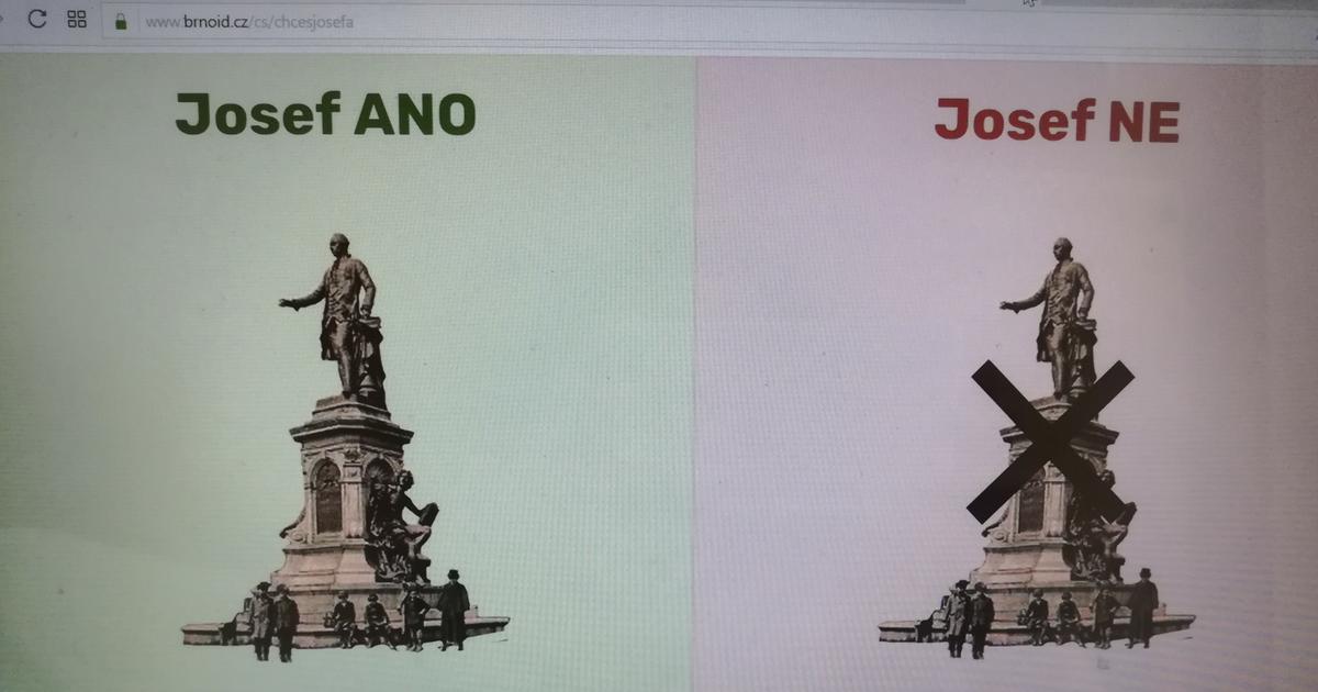 Chcete Josefa II. na Dominikánském náměstí?